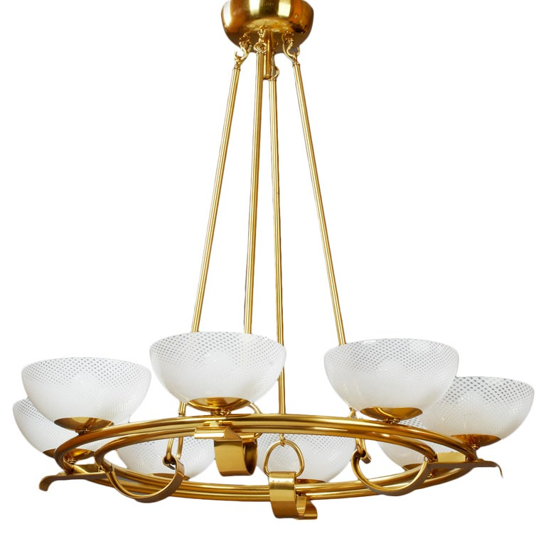 Venini Eight Branch Chandelier at 1stdibs