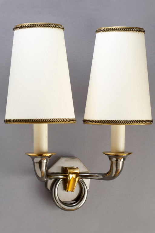 Asselbur Two Branch Sconces at 1stdibs