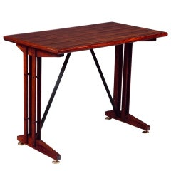 Rosewood Writing Table, Italy, 1950s