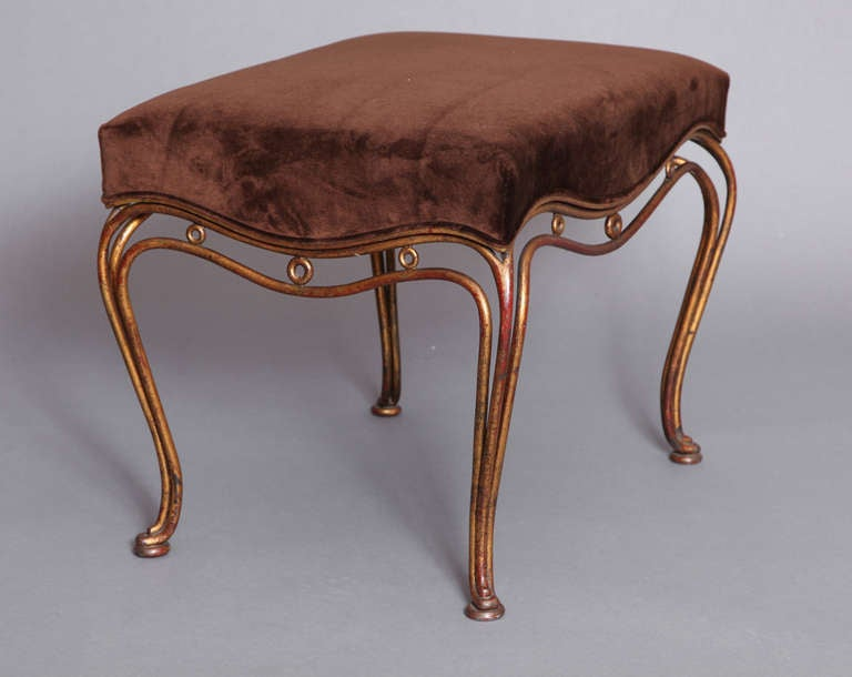 France 1950 S Gilt Wrought Iron Stool At 1stdibs