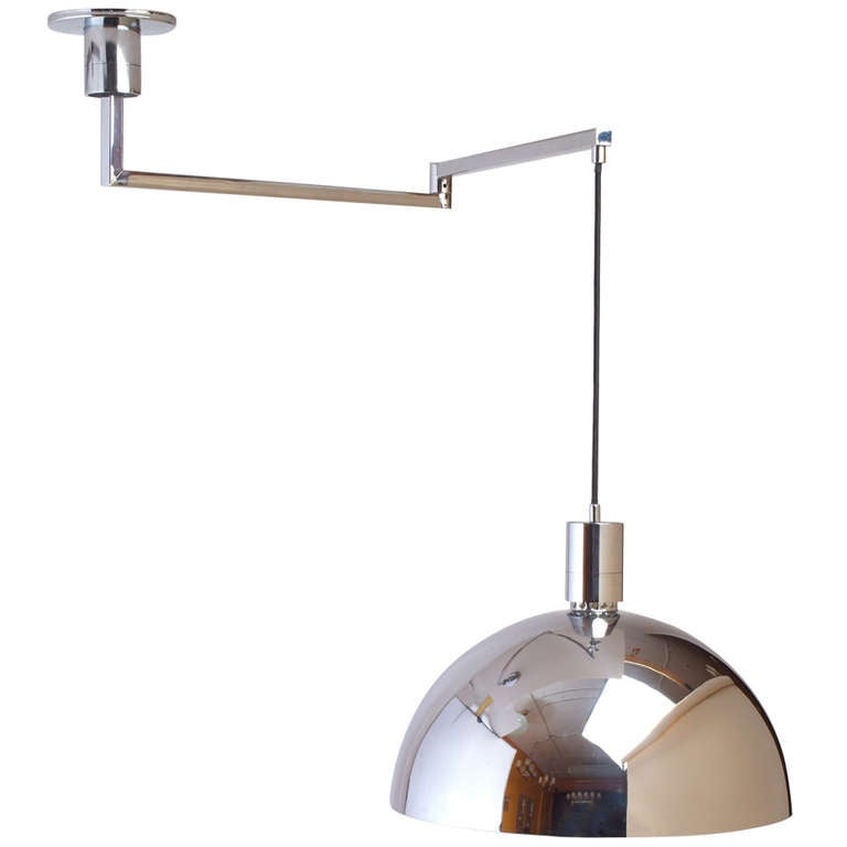 Modernist Swing-Arm Ceiling Light by Franco Albini at 1stdibs
