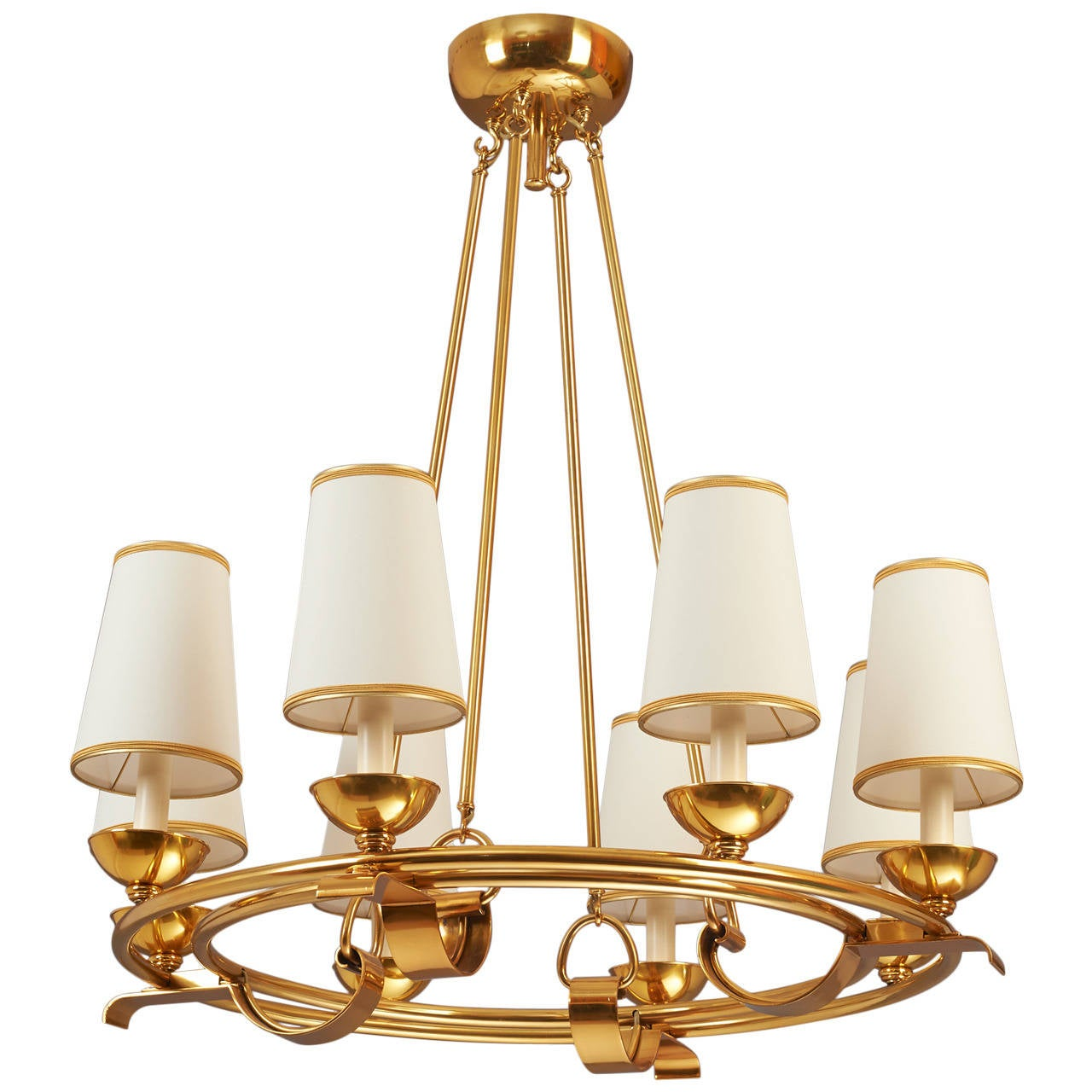 Eight Branch Round Italian Chandelier at 1stdibs