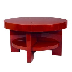 Elegant France, 1930s Constructivist Lacquered Table