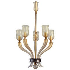 Exceptional Blown Glass Murano Chandelier by Veronese ca. 1950