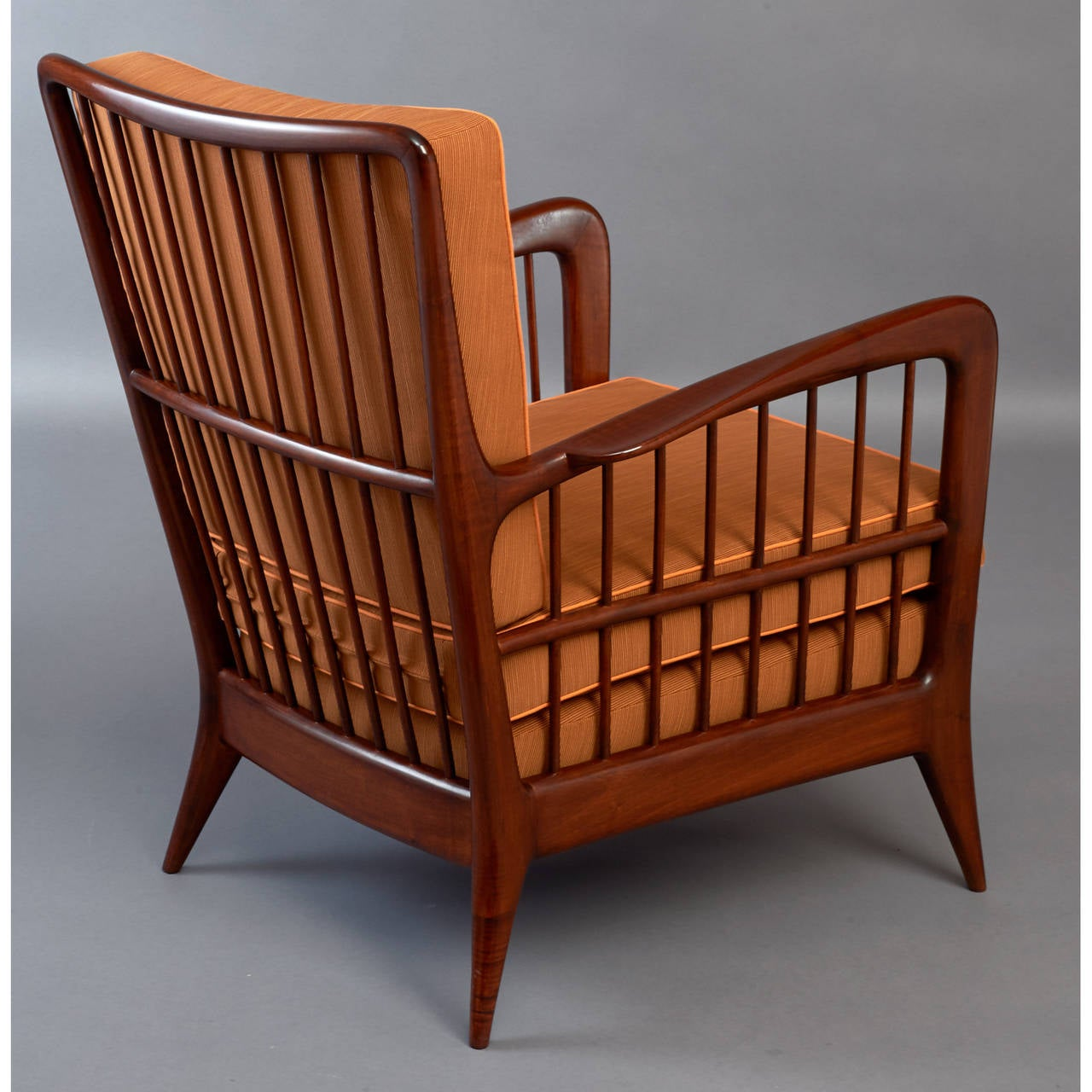 Mid-20th Century Pair of Sculptural Paolo Buffa Armchairs, circa 1940 For Sale