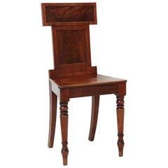 An English Regency Mahogany Hall Chair