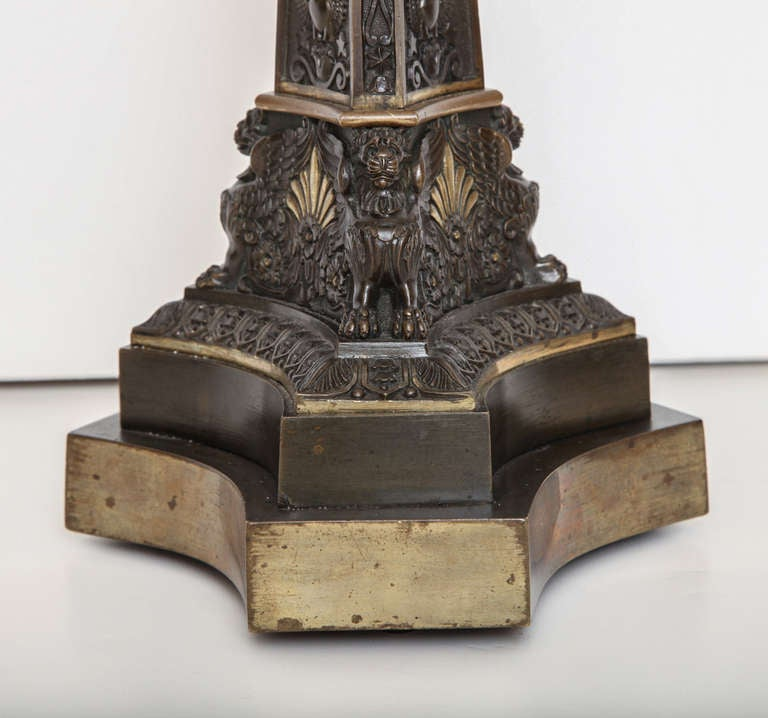 Early 19th Century English Bronze Lamp 9