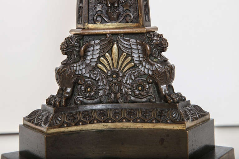Early 19th Century English Bronze Lamp 10