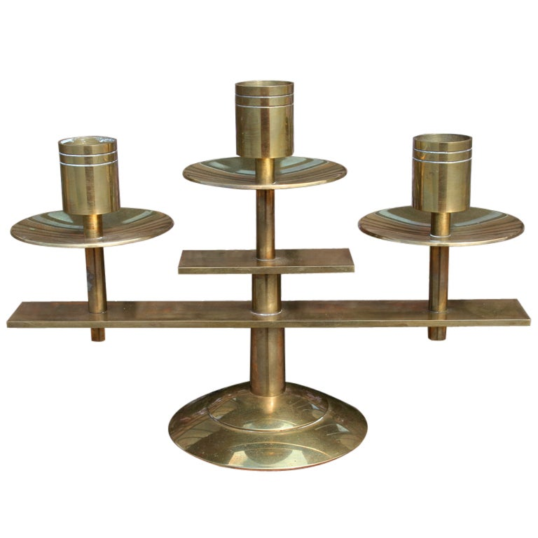 A Danish Brass Candle Holder By Dan Present At 1stdibs