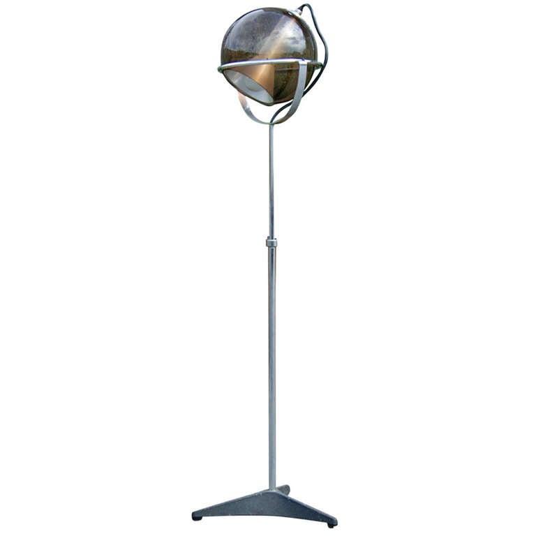 a globe floor lamp by frank lightelijn at 1stdibs With globe for a floor lamp