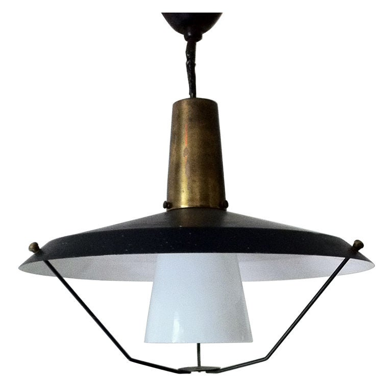 Retractable Pendant Light By Lightolier At 1stdibs