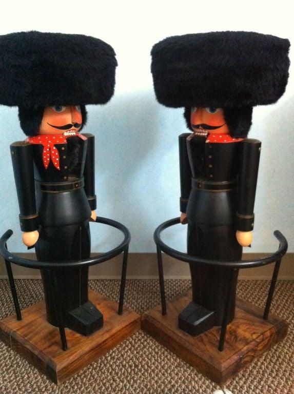 Pair Of German Nutcracker Bar Stools Image 7