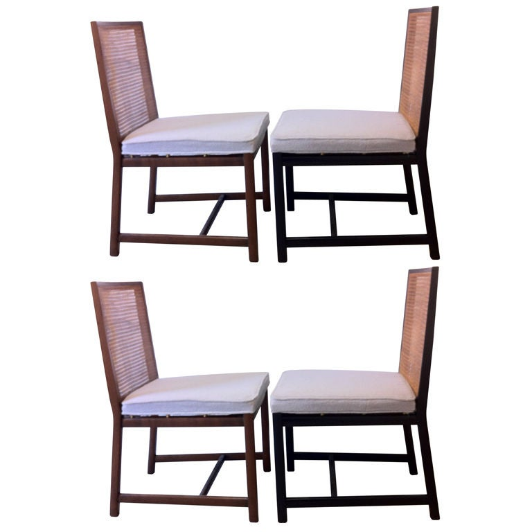 Set Of Four Michael Taylor For Baker Dining Chairs At 1stdibs