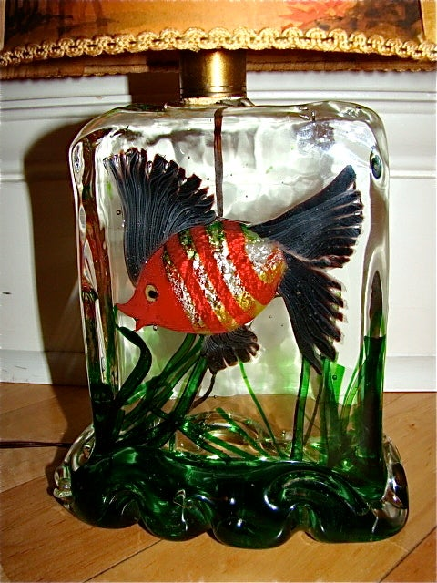 alfredo barbini cenedese murano glass aquarium fish lamp at 1stdibs. Black Bedroom Furniture Sets. Home Design Ideas