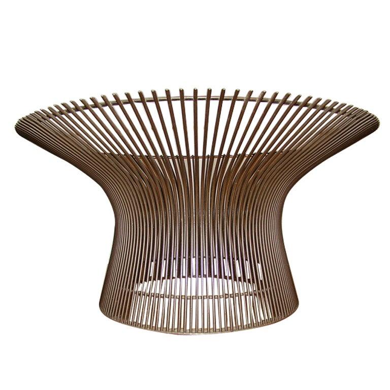 knoll warren platner bronze finish vintage coffee table at 1stdibs