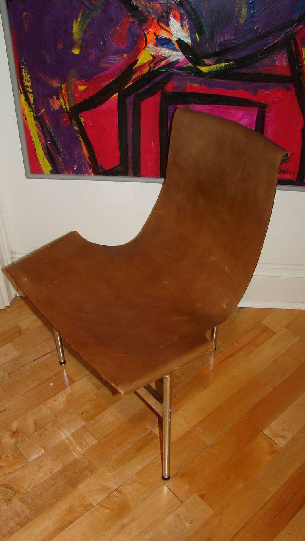 Katavolos Chrome & Leather Modern Sling Chair for Laverne 3