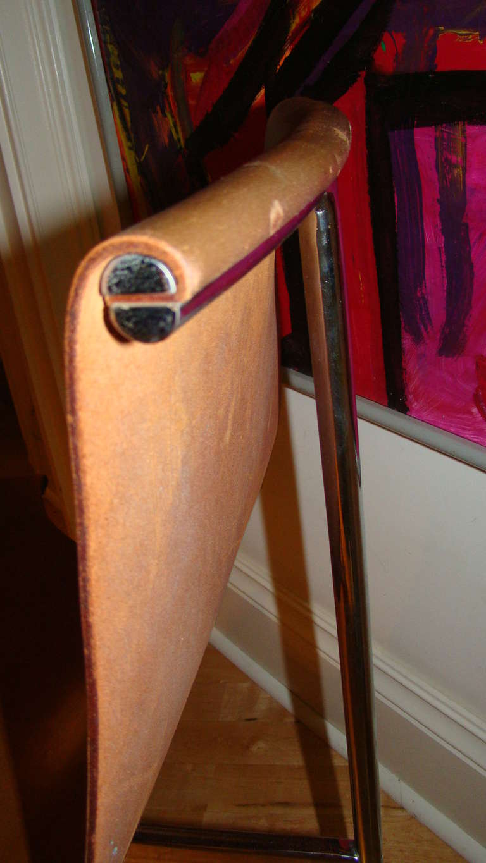 Katavolos Chrome & Leather Modern Sling Chair for Laverne 4