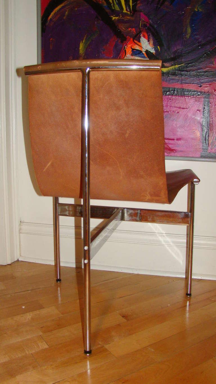Katavolos Chrome & Leather Modern Sling Chair for Laverne 5