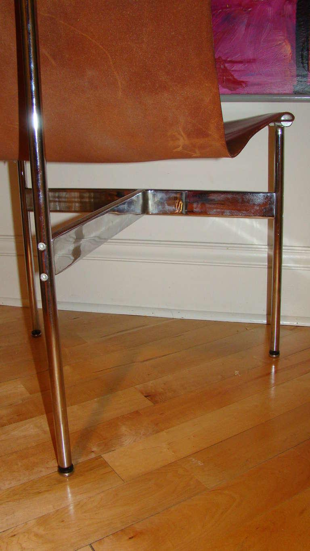 Katavolos Chrome & Leather Modern Sling Chair for Laverne 6