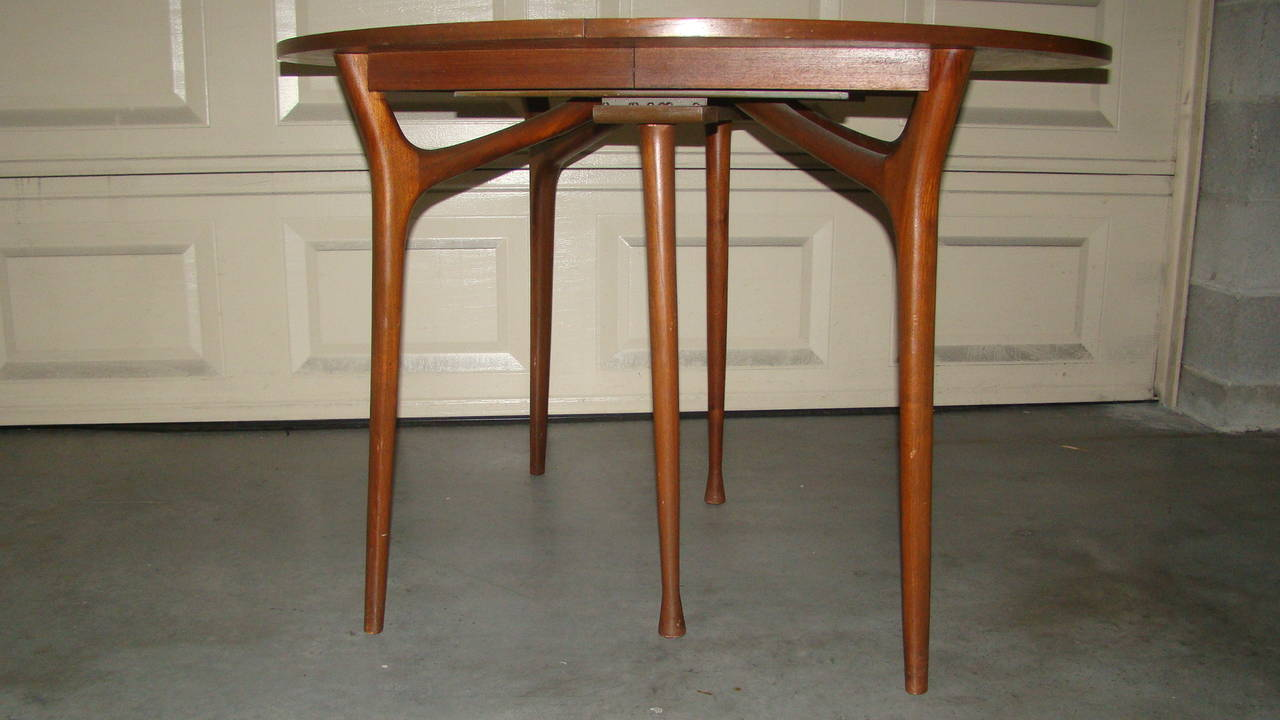 Sculptural Danish Modern Expandable