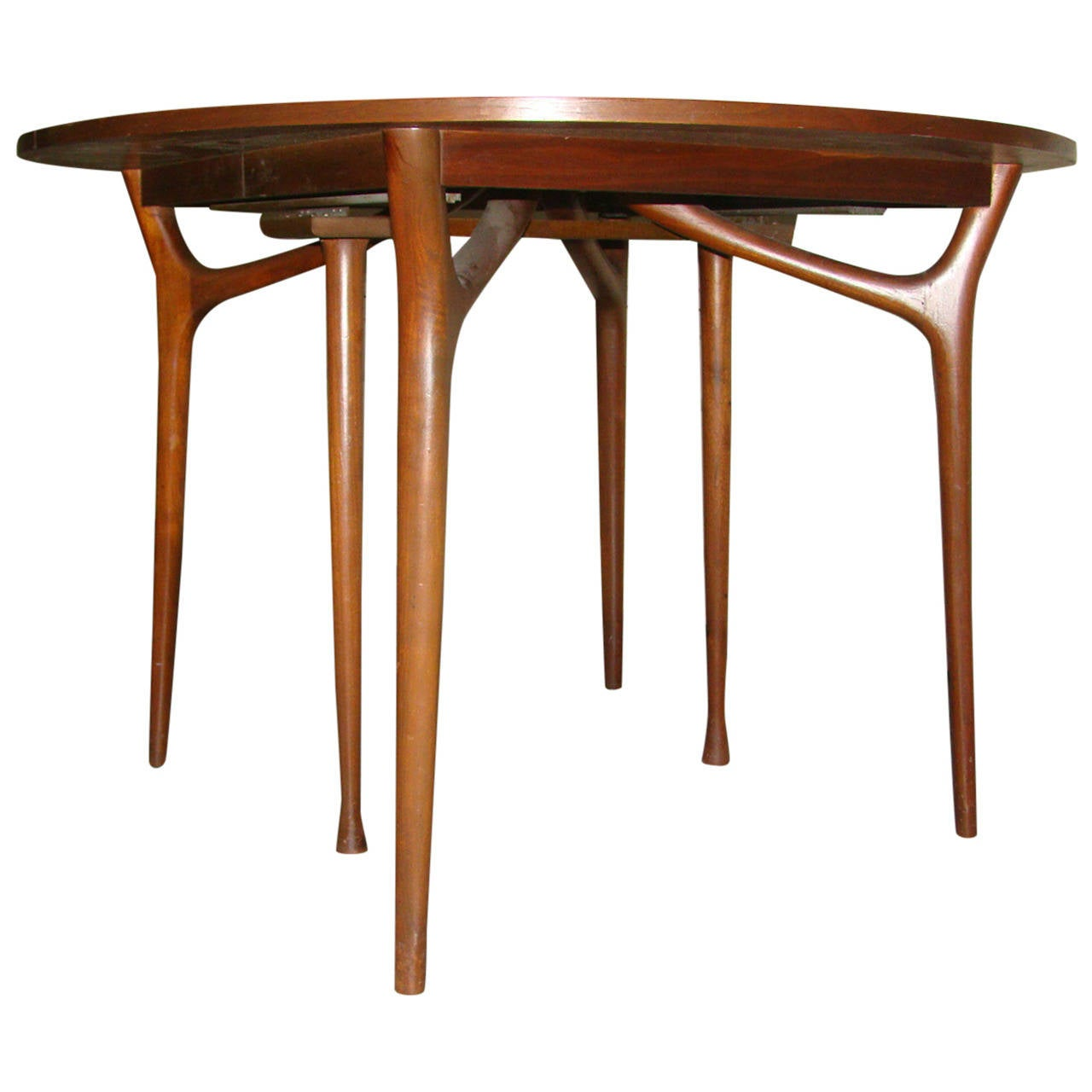"Modern Expandable Dining Table: Sculptural Danish Modern Expandable ""Spider"" Dining Table"
