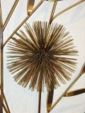 C Jere Brass Sea Urchin Sputnik Metal Wall Sculpture Tree image 3