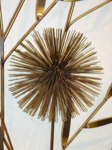 Metal Urchin Wall Decor : C jere brass sea urchin sputnik metal wall sculpture tree