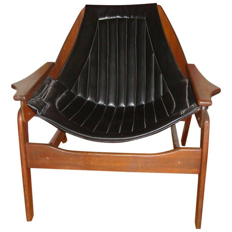 Jerry Johnson Mid Century Modern Sling Lounge Chair
