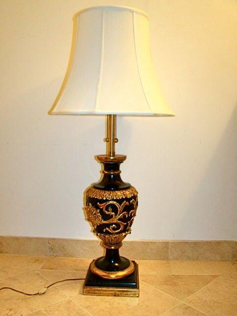 marbro gold guilded ornate carved wood italian table lamp at 1stdibs. Black Bedroom Furniture Sets. Home Design Ideas