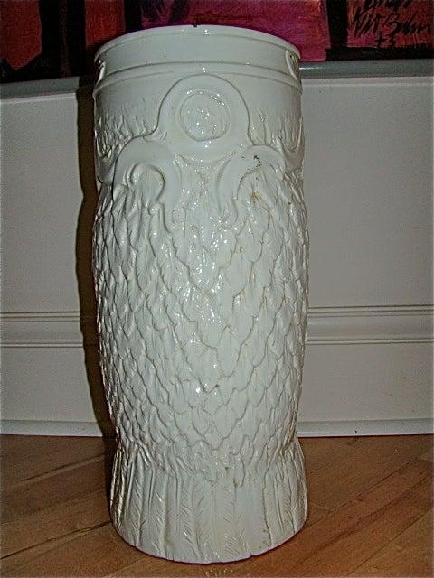 Italian Pottery Owl Floor Vase Umbrella Holder At 1stdibs