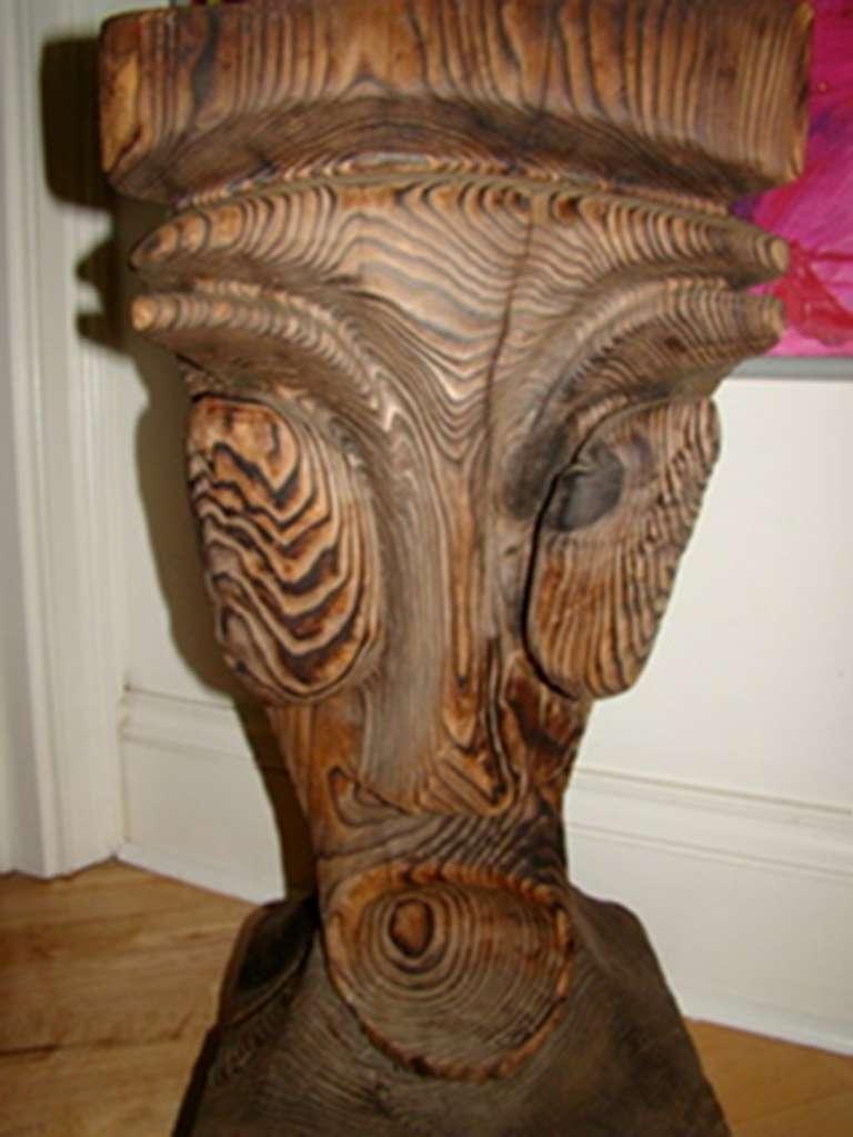 Witco Mid Century Tiki God Bar Stool Table By William