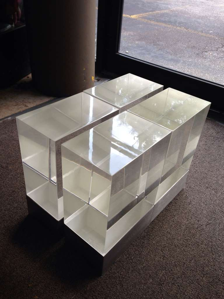 Lucite Block Modern Puzzle Coffee Table At 1stdibs