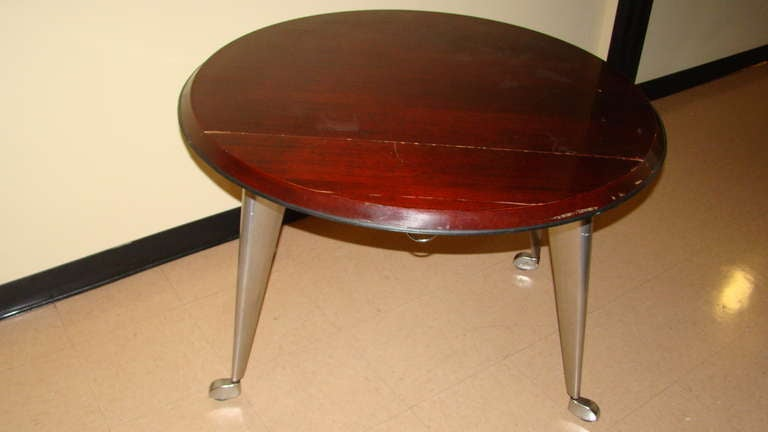 Philippe Starck Drop Leaf Rolling Dining Table At 1stdibs