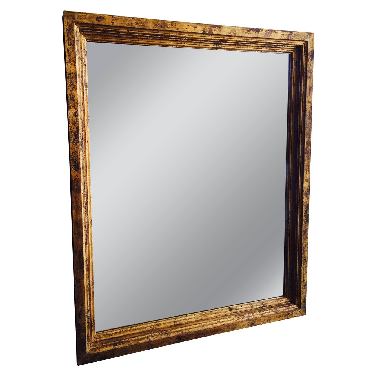 Oversized guilded wood full length floor mirror at 1stdibs for Oversized mirror