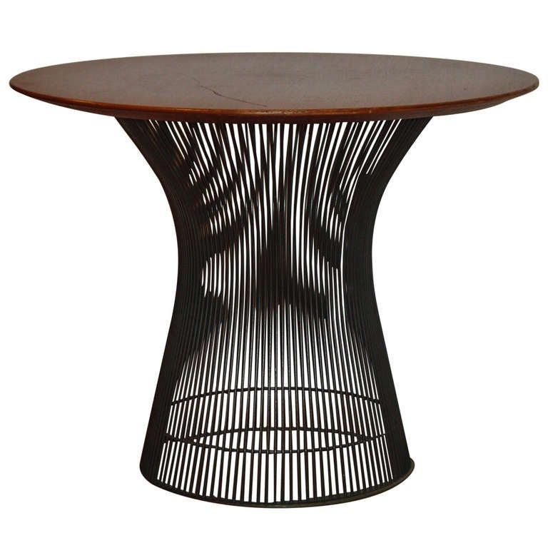Mid Century Rose Wood Side Table Or Small Coffee Table For: Warren Platner Knoll Bronze And Rosewood Occasional Coffee