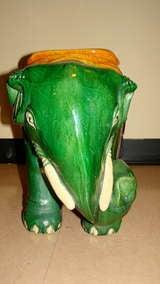 Glazed Terracotta Elephant Garden Table Stool image 6