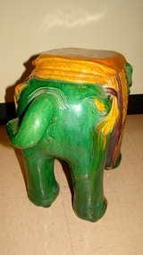 Glazed Terracotta Elephant Garden Table Stool image 7