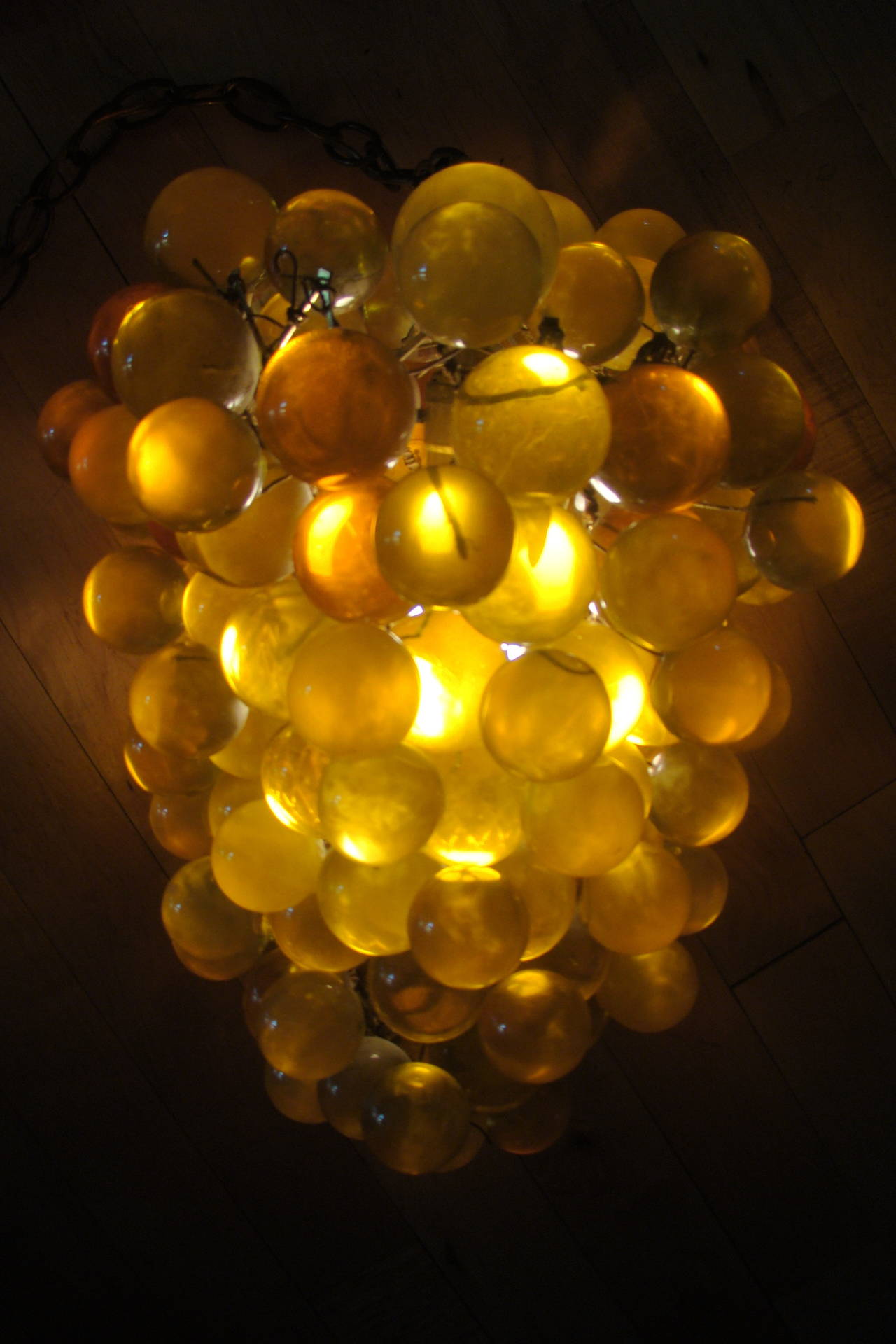 Large Acrylic Grape Cluster Italian Chandelier Hanging Lamp Fixture At 1stdibs