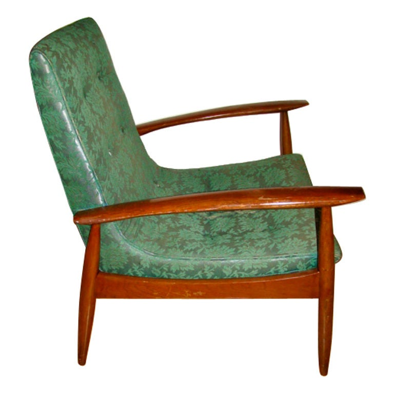 Danish Modern Kofod Larsen Mid Century Lounge Chair at 1stdibs