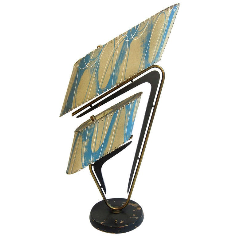 mid century modern majestic table lamp at 1stdibs. Black Bedroom Furniture Sets. Home Design Ideas