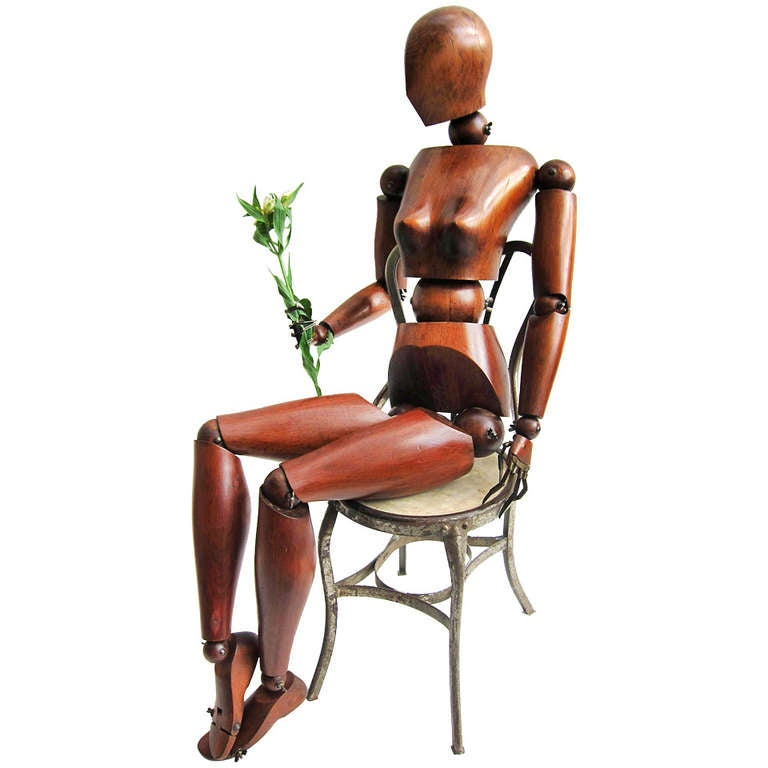 Rare Life Size Articulated Artist Mannequin At 1stdibs
