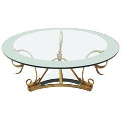 Midcentury Brass Doré Center Table by Arturo Pani