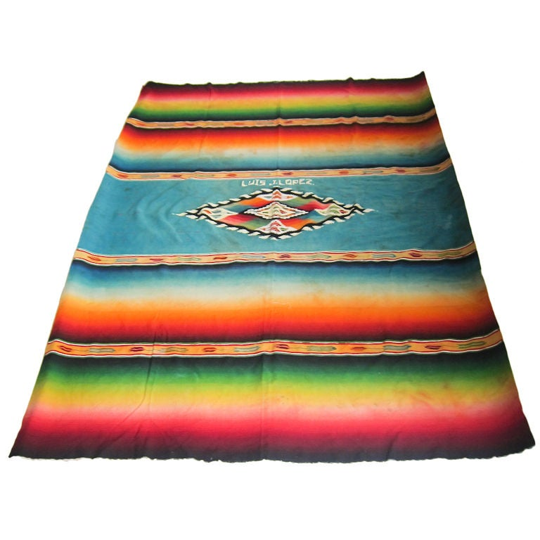 Post Classic Serape de Saltillo at 1stdibs