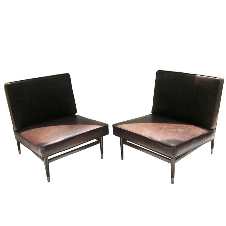 pair leather salon chairs irgsa at 1stdibs
