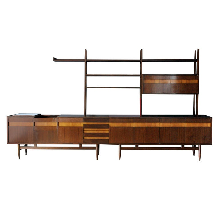 Mid century modular shelving system at 1stdibs for Mid century modern modular homes