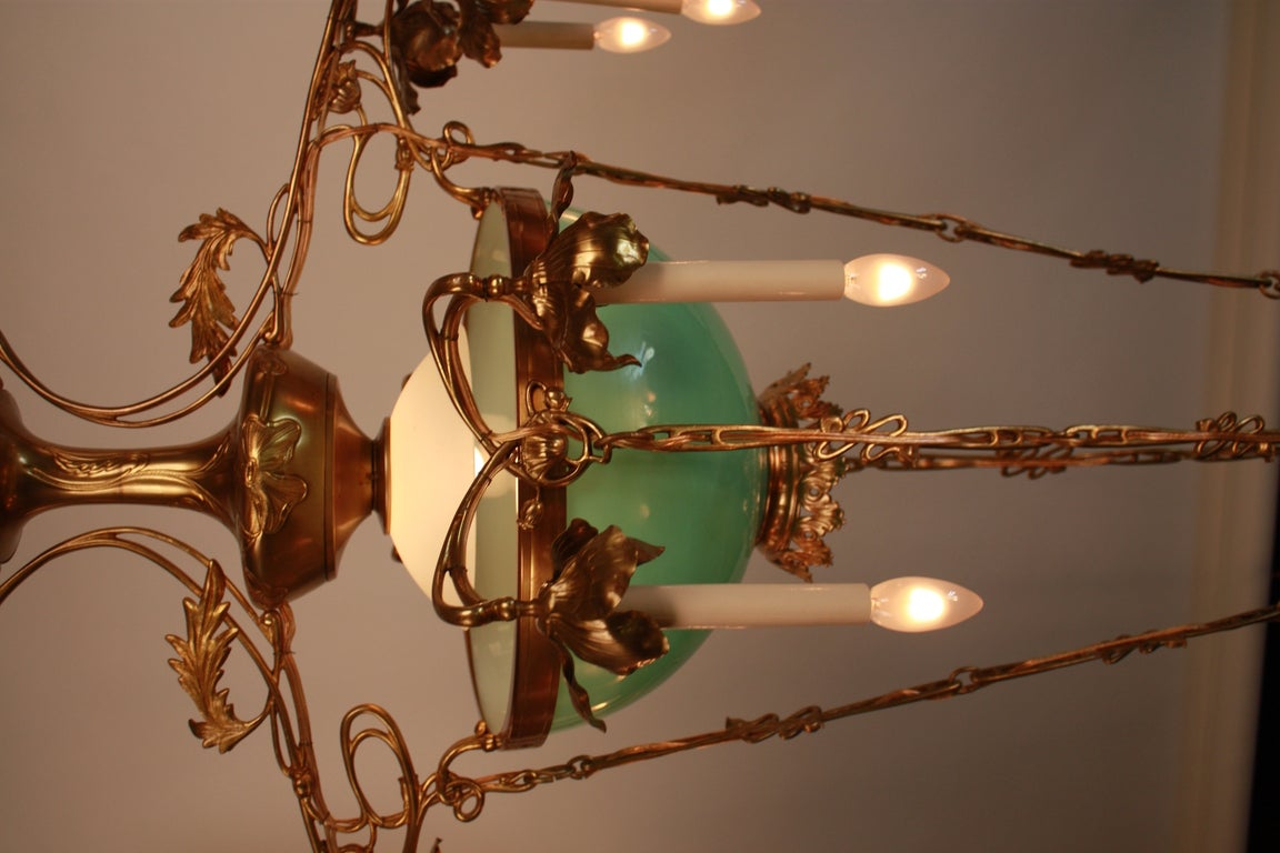 19th c french art nouveau chandelier at 1stdibs for Chandelier art nouveau