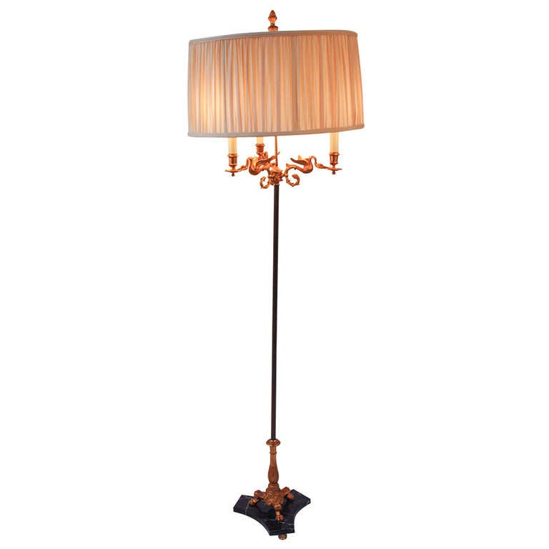 1930 39 s empire style floor lamp at 1stdibs for 1930s floor lamp