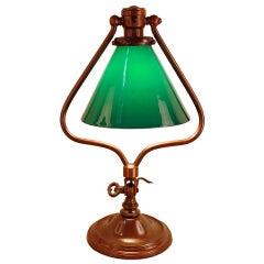 American Green Glass Desk Lamp
