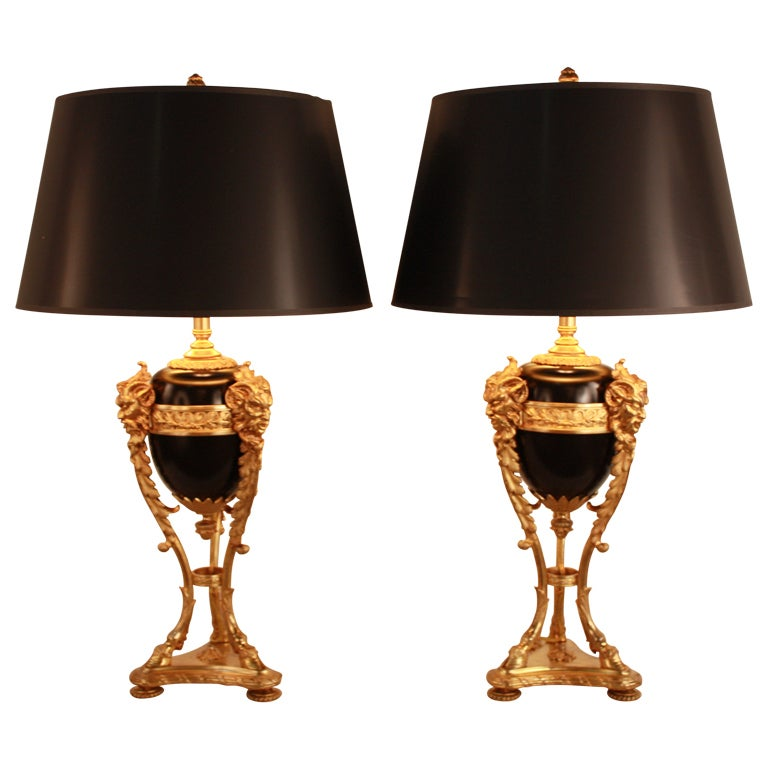 French empire table lamp at 1stdibs for F k a table lamp