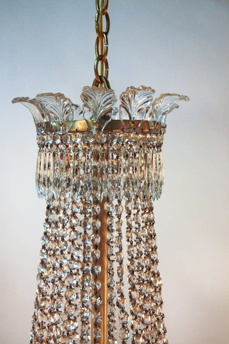 1930 S Spanish Empire Style Crystal Chandelier At 1stdibs